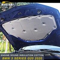 Gelinsi Car Hood Engine Firewall Mat Pad Cover Deadener Interior Heat Sound Insulation Cotton for BMW 3 Series G20 2020