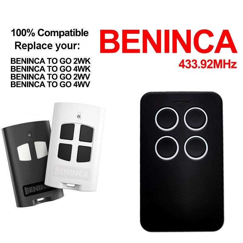T4 WV Compatible Remote control Rolling code 433.92 MHz. BENINCA T2 WV
