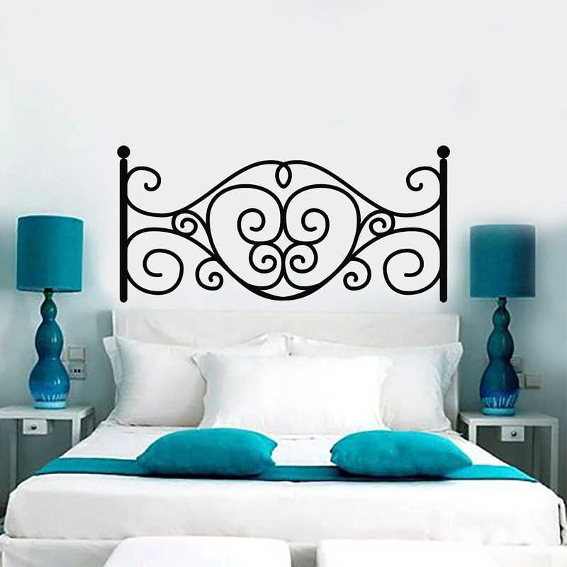 Headboard Sticker Creative Bedroom Decoration Above Bed Home Decor Removable Romantic Wall Art Mural Wall Stickers Aliexpress