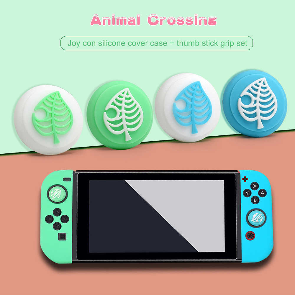 Animal Crossing Nintend Switch Lite Controller Cover Switch Analog Grip Joystick Perlindungan Kasus Shell Pengganti Kucing