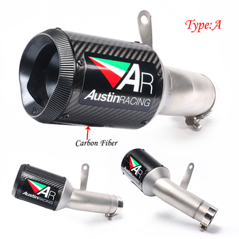 Slip On For BMW S1000RR 2015 2016 Motorcycle Exhaust System Carbon Fiber AR Sticker Exhaust Pipe Tail Exhaust Pipe S1000RR S1000 tkosm rsv4 motorcycle exhaust full system mid link pipe motorbike carbon fiber muffler sticker slip on for aprilia rsv4 2012 15