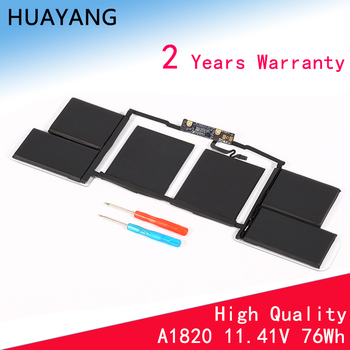 цена на HUAYANG HIGH quality A1820 Battery for Apple macbook Pro 15'' Touch Bar A1707 battery 2016-2017 year Free Tools