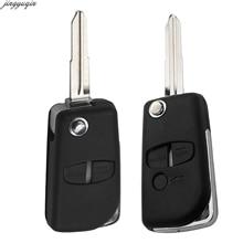 цена на 2/3 BTN Remote Car Key Shell For Mitsubishi Pajero Sport Outlander Grandis ASX Modified Flip Folding Remote Key Fob Replacement