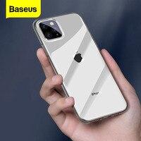 حافظة هاتف من Baseus لهواتف iPhone 11 Pro Max Coque حافظة ظهر من السيليكون الناعم والنحيف للغاية لهاتف iPhone 2019 أحدث Fundas