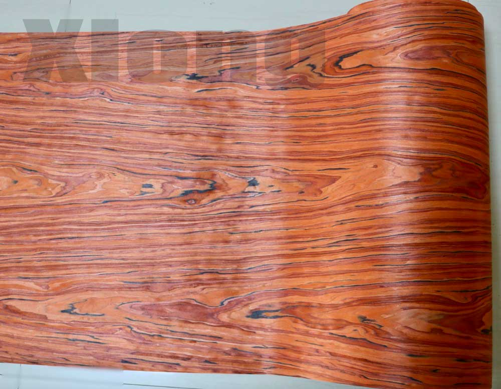 2Pieces/Lot L:2.5Meters   Wide:55CM  Thickness:0.2mm  Home Decor Furniture Wood Veneer Decorative Flower Pattern