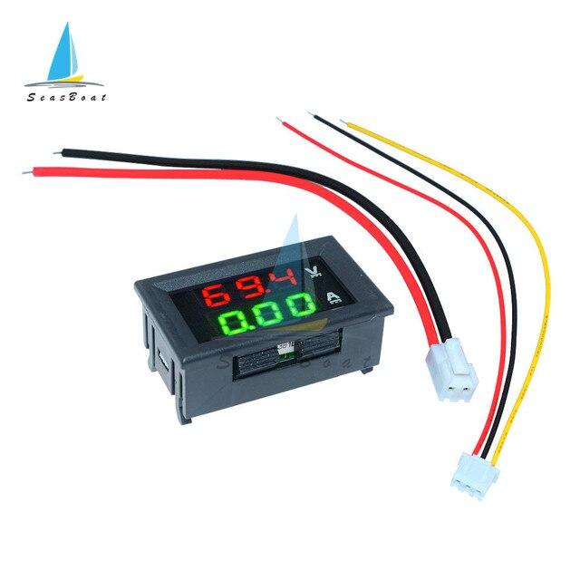 0.56'' 0-100V 10A 50A 100A LED Digital Voltmeter Ammeter Car Motocycle Voltage Current Meter Volt Detector Tester Monitor Panel 2