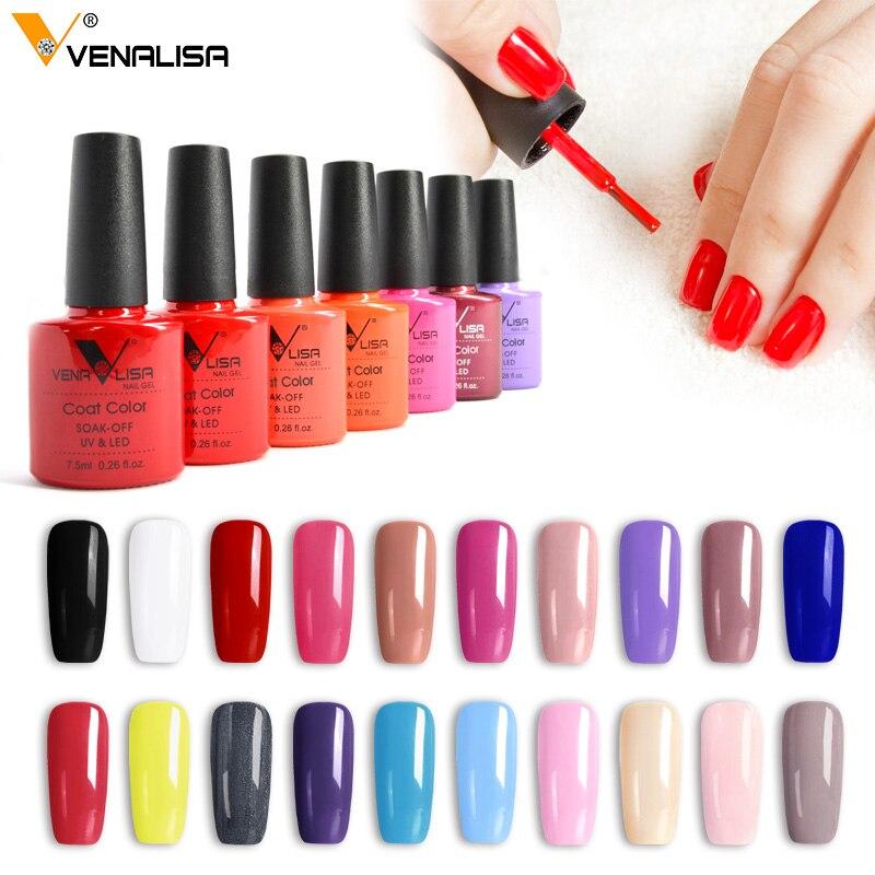 2020 New Brand Venalisa Hot Sell  Soak Off Uv Gel 60colors 7.5ml Supper Shinning Christmas Mirror Effect Nail Gel Polish Lacquer
