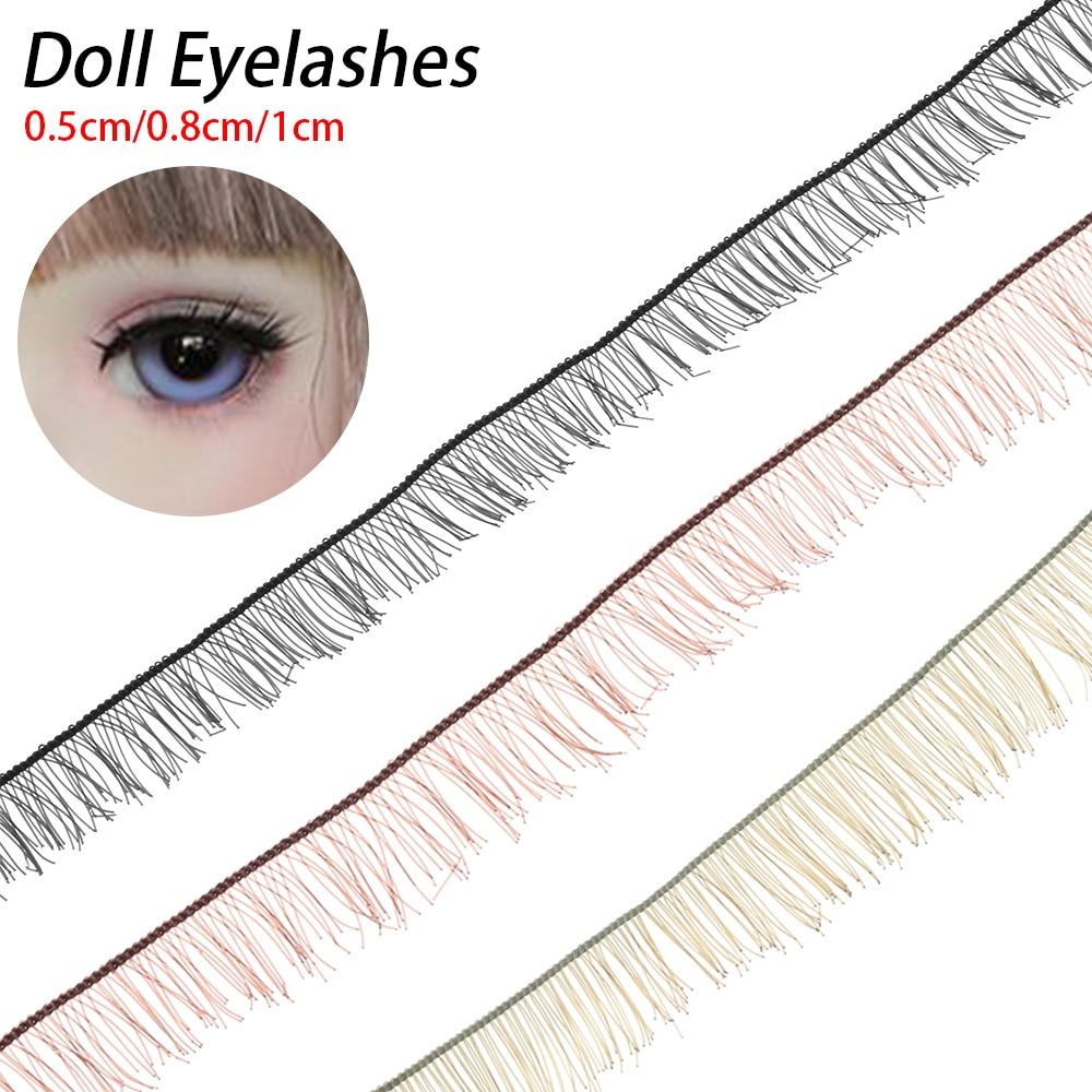 40pcs Doll Baby 20cm Strip Eyelash Brown Lashes for BJD Dolls Makeup Beauty