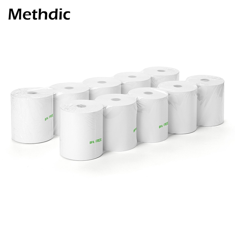 50 Rolls / Carton Thermal Roll Paper Credit Card For ATM
