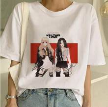 Blackpink Töten Diese Liebe T Hemd Harajuku LISA JISOO JENNIE ROSE 90s Cartoon T-shirt Frauen Mode Top T Weibliche ullzang T-shirt(China)