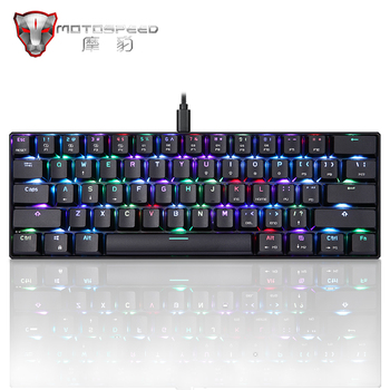 New Original Motospeed CK61 Gaming Mechanical Keyboard USB Wired 61 keys RGB LED Backlight Red Blue switch for PC Computer Gamer 1