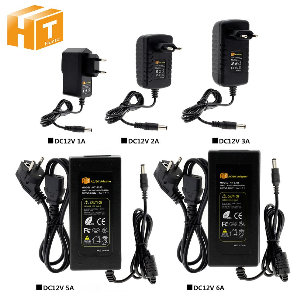 DC12V светодиодный освещения трансформаторный источник питания AC100V-240V 1A 2A 3A 5A 6A 8A 10A адаптер конвертер для Светодиодные ленты света разъема ст...