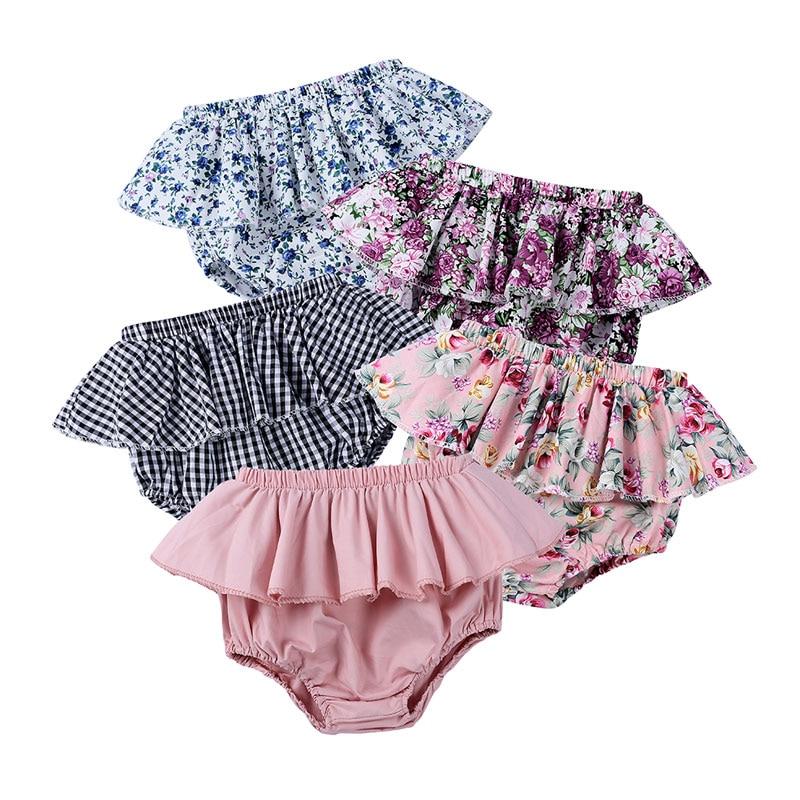 Floral Print Kids Girls   Shorts   100%Cotton Ruffles Girls   Short   Skirts Summer Baby Girl   Shorts   Fashion Children Clothes 0-6 Years