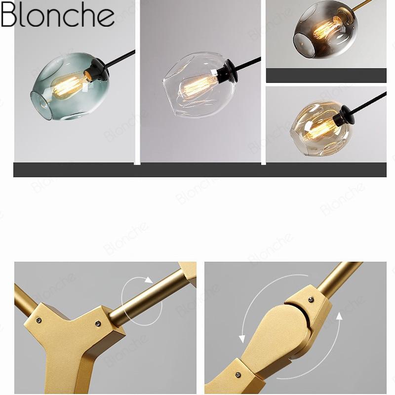molecular nordic lustre lustre de vidro simples 05