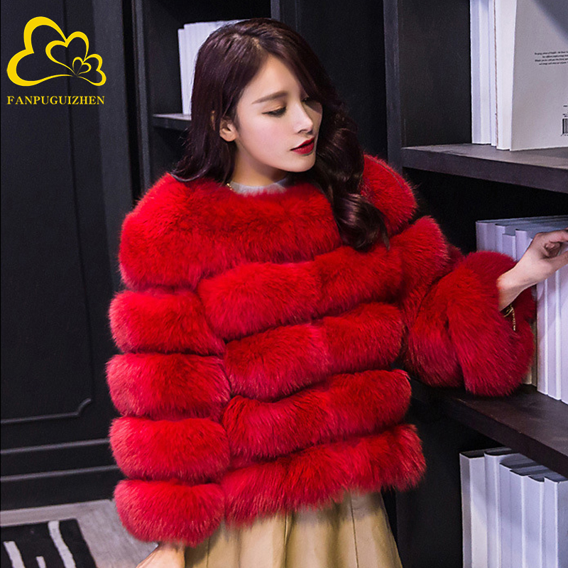 Women Faux Fur Coat Autumn Winter Long Sleeve New Fashion Pink Elegant Thick Warm Outerwear Fake Fur Jacket Chaquetas Mujer