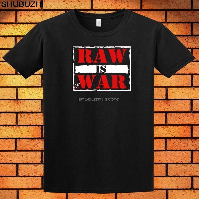 Monday Night Raw Is War WWF T-Shirt Men's Black White New Shirt Cool Casual pride t shirt men Unisex New Fashion tshirt sbz6106(China)
