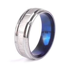 Модное мужское кольцо из нержавеющей стали 8 мм мужские обручальные