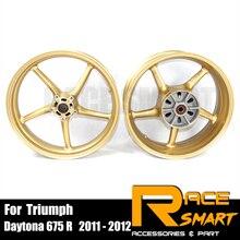 오토바이 휠 림 프런트 리어 휠 림 Triumph Daytona 675 R 2011 2012 오토바이 휠 Rims Daytona 675R 2011 2012