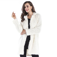 Winter new plush coat female lapel furry long