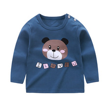 Autumn New Kids Baby Girls Boys Long Sleeve Tops Cotton Round Neck Tee Shirt Blouse Baby Clothes