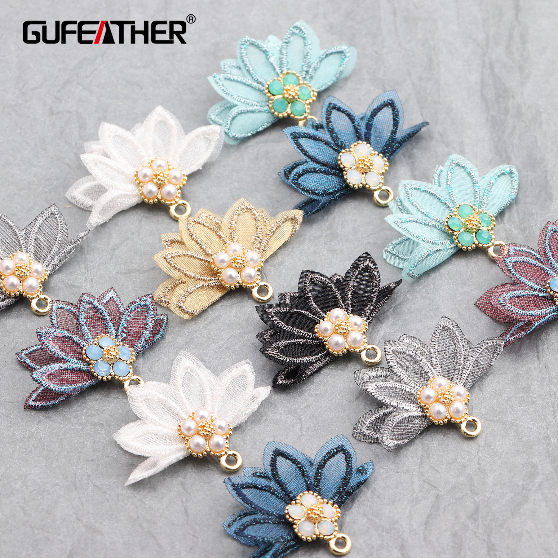GUFEATHER M597,jewelry Accessories,tassels,flower,diy Pendant,jewelry Findings,hand Made,jewelry Making,diy Earrings,10pcs/lot