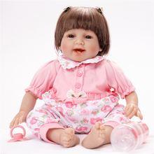 55 см силиконовая кукла reborn baby мягкие силиконовые куклы