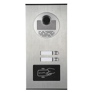 "Image 2 - ฟรีSHIPP 7 ""LCDประตูวิดีโอโทรศัพท์ระบบอินเตอร์คอมRFID Accessกล้องกลางแจ้งสำหรับ2 Family Apartmentจัดส่งฟรี"