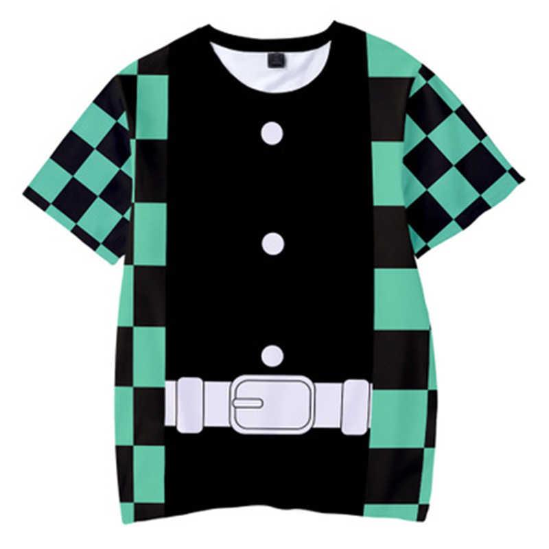 Maglietta di estate Dei Capretti Anime Demone Slayer: kimetsu No Yaiba Cosplay Bambini T-Shirt Ragazzi/ragazze Teenager Manica Corta Divertente Tshirt