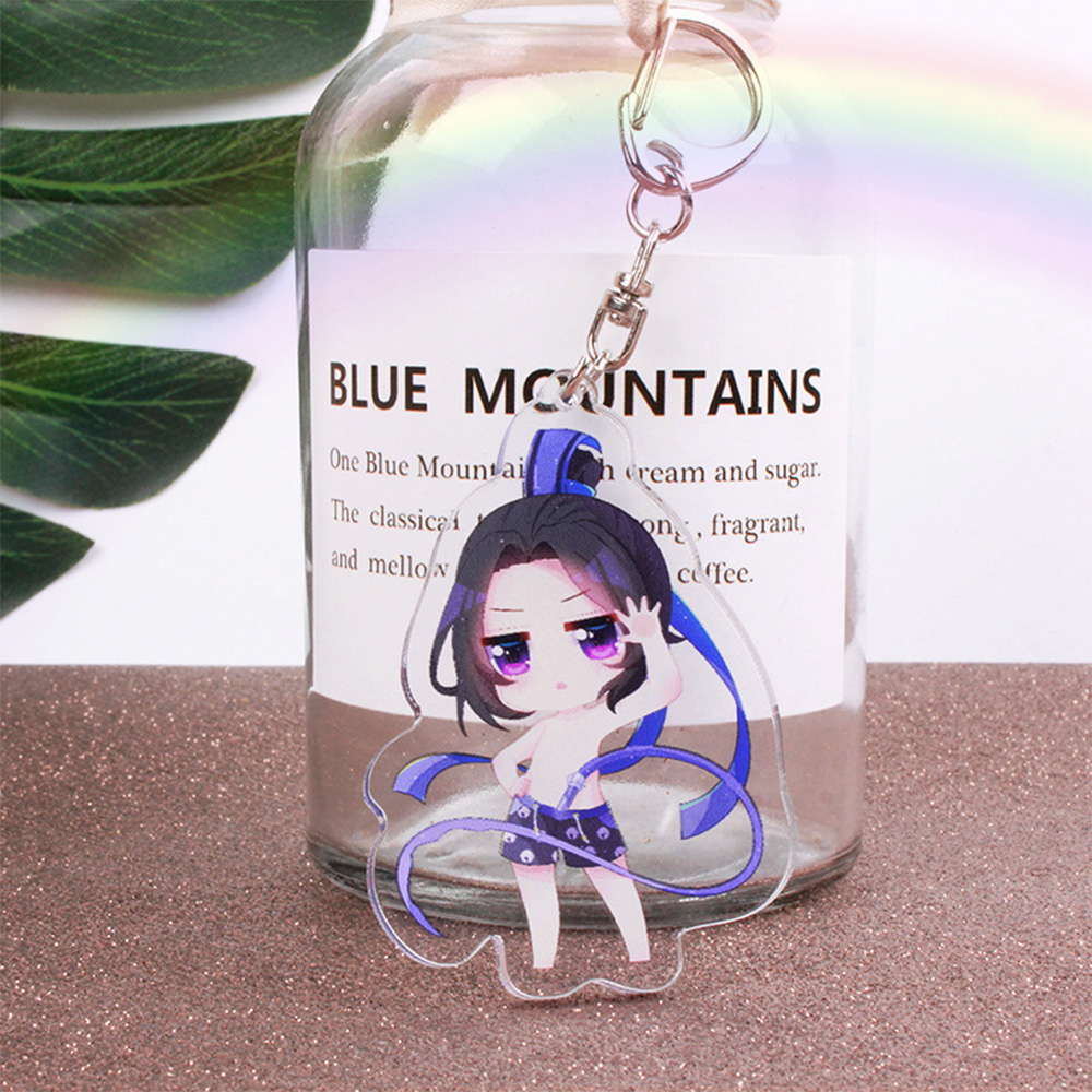 New Arrival Cute Cartoon Anime Keychain Cosplay Accessories Founder Of Diabolism Grandmaster Of Demonic Cultivation Keyring Gift