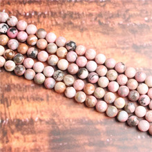 Rose stone Natural Stone Beads Loose Stone Beads For Jewelry Making DIY Bracelets Necklace Accessories 4/ 6/8/10mm(China)