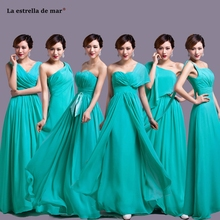 turquoise bridesmaid dress long new chiffon A Line 6 style b