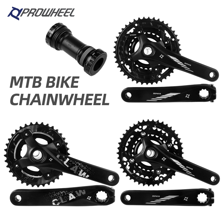 104BCD MTB Bike Crankset 170mm Crank Set Narrow Wide Chainring Bottom Bracket