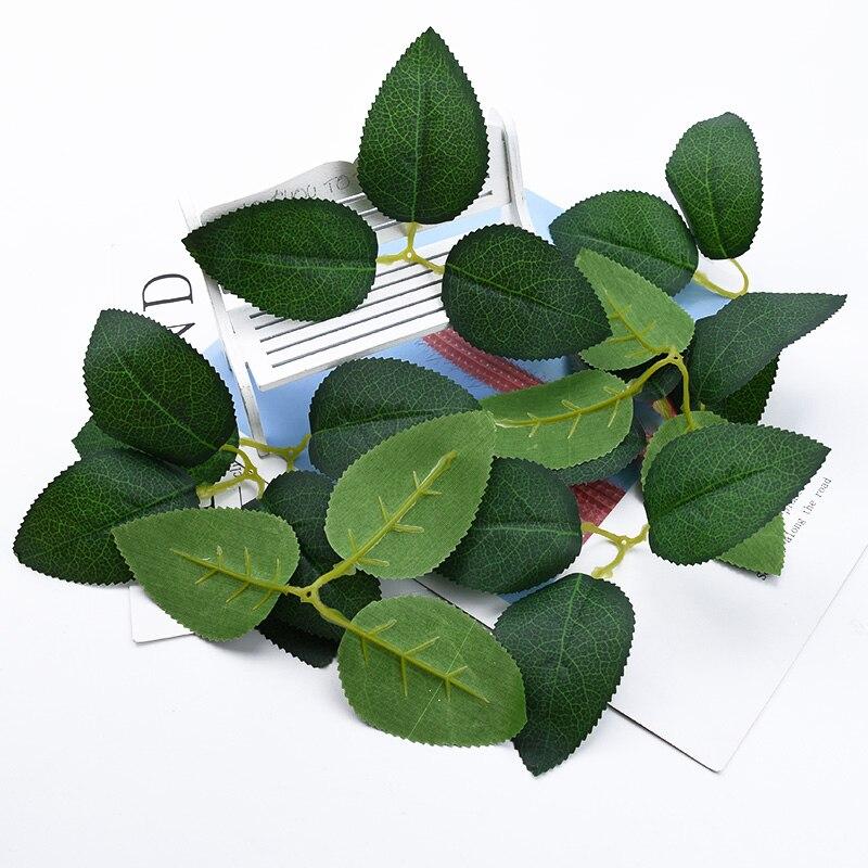 10/30 штук шелковые розы Лист diy Подарочная коробка свадебные декоративные цветы венки Рождественские украшения для дома искусственные листь...