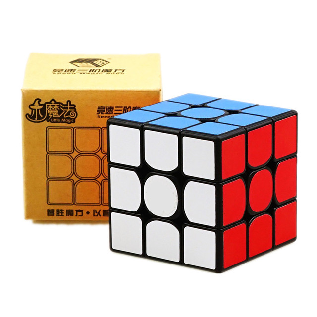 Yuxin Little Magic 3x3 Cube Black/Stickerless/white Sticker Puzzle Early Educational Toy 2