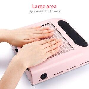 Image 4 - 80W nouvelle puissance forte ongles collecteur de poussière ongles ventilateur Art Salon daspiration dépoussiéreur Machine aspirateur ventilateur