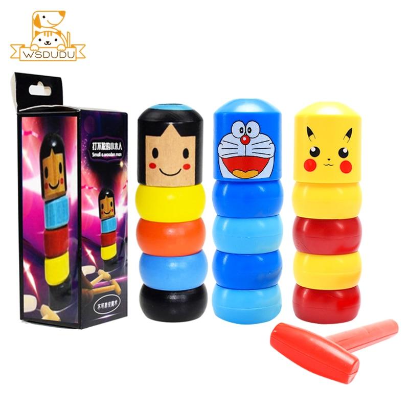 Cute Cartoon Immortal Magic Toys Props Fun Tumbler Daruma Doraemon Pikachu Captain Iron Dolls Classic Novelty Tricks Gift Newest