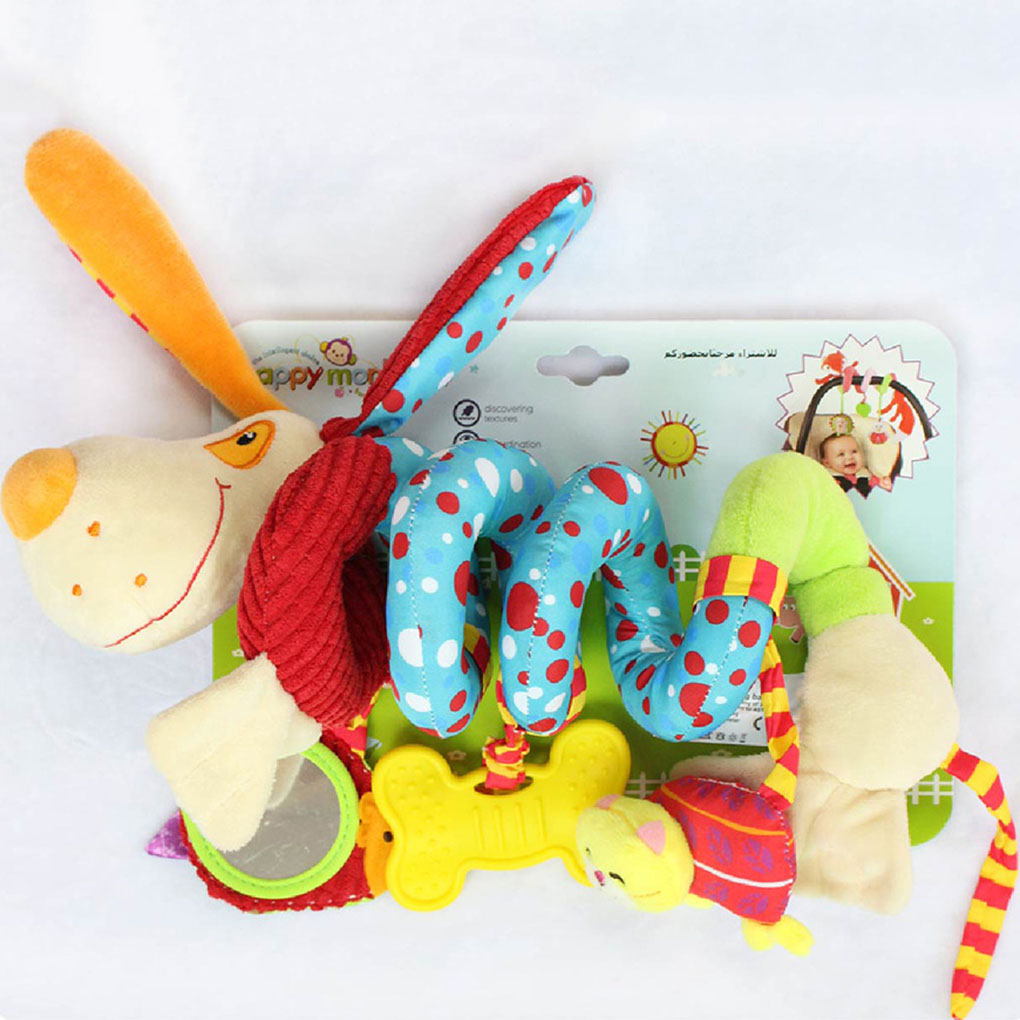 Soft Infant Crib Bed Stroller Toy Spiral Baby Toys For Newborns Car Seat Hanging Educational Rattle Toy Kawaii Kids Stuffed Toys