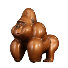 Copper Gorilla Statue Figurine Animals Monkey Art Sculpture Pure Craft Home Decoration Accessories gift