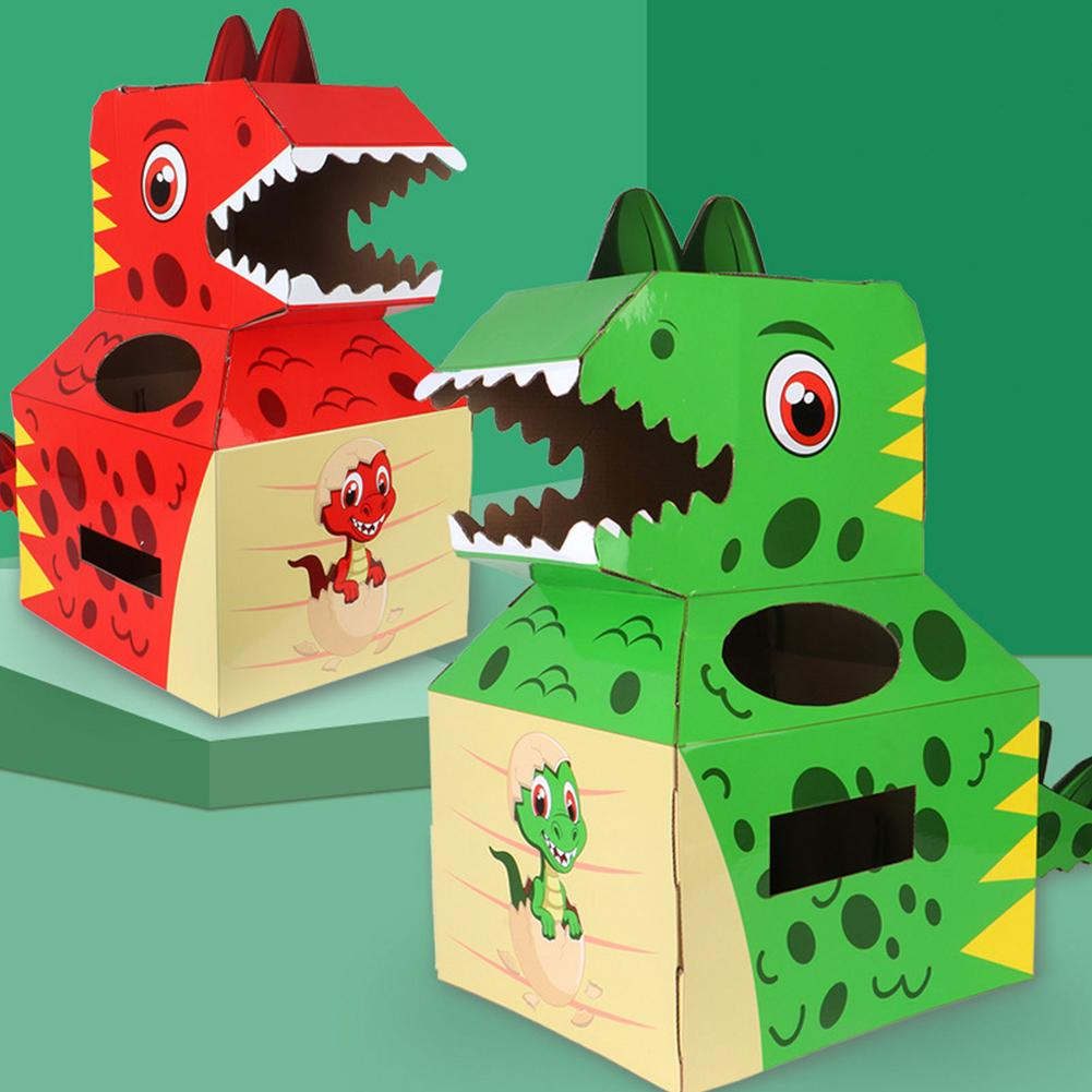 Baby Toys Dinosaur Carton Can Wear Paper Skin Handmade DIY Model Creative Birthday Gift Children's Toys