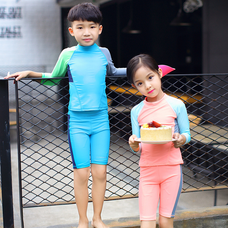 Men And Women Child-Style Split Type Sports Tour Bathing Suit GIRL'S And BOY'S Large Children Baby Students KID'S Swimwear Swimm