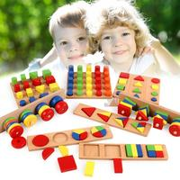 For Montessori 8PCS/Set Children's Teaching Aids Combination Puzzle Early Education Enlightenmentn Interactive Toys Brain Game