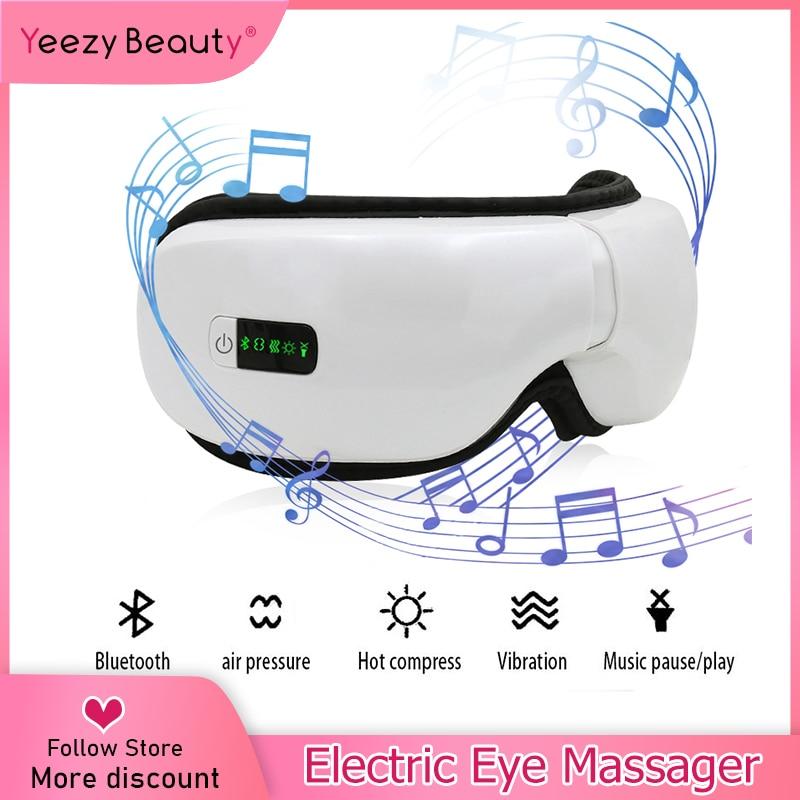 Smart Electric Eye Massager Mask Eye Vision Improvement Air Pressure Eyes Massager Music Wireless Eye Heating Vibration Machine