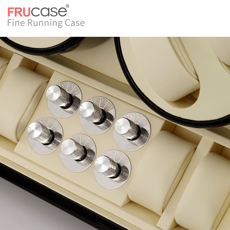 Image 5 - Automatyczna nakręcarka zegarków FRUCASE Black high finish zasilanie prądem zmiennym obsługa ultra cisza 12 + 4Pudełka do zegarków   -
