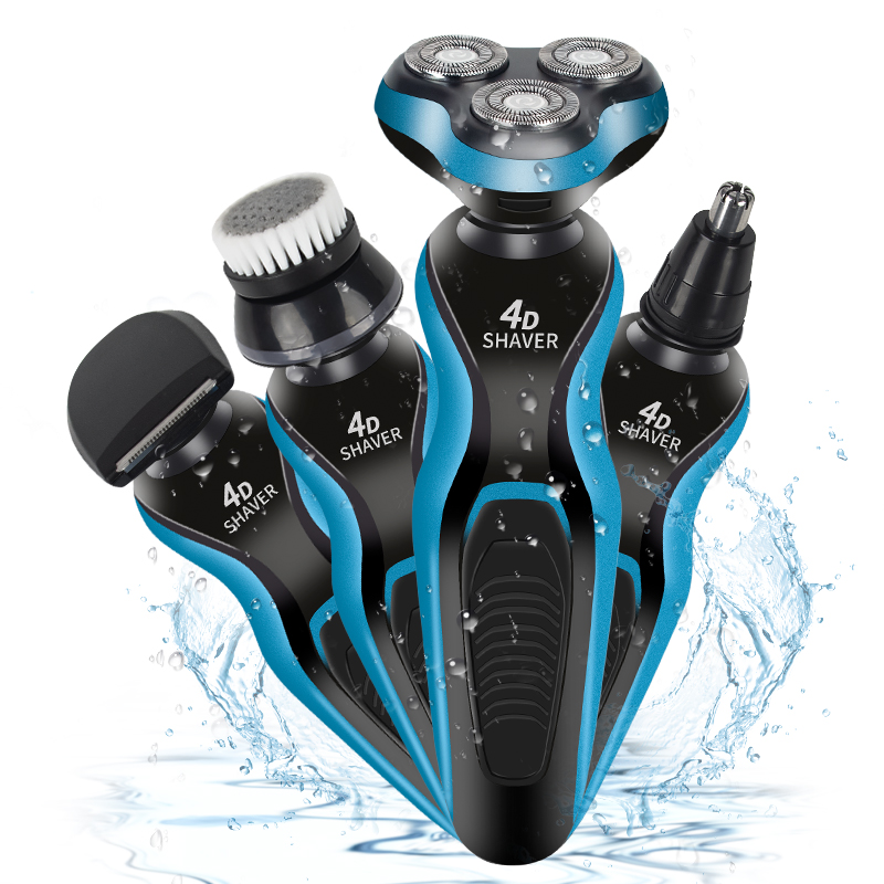 USB Electric Shaver For Men Body Wash Multi-Function Electric Razor Face Head Shaver Nose Hair Trimmer Wash Hair Razor