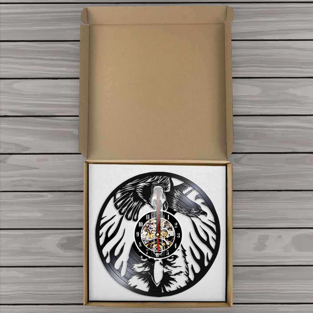 Eagle Bird Wall Clock Animals Soaring Bald Eagle Vinyl Lp Record Watch Bird Of Prey Eagle Dignity In The Sky Vintage Lamp Saat Aliexpress