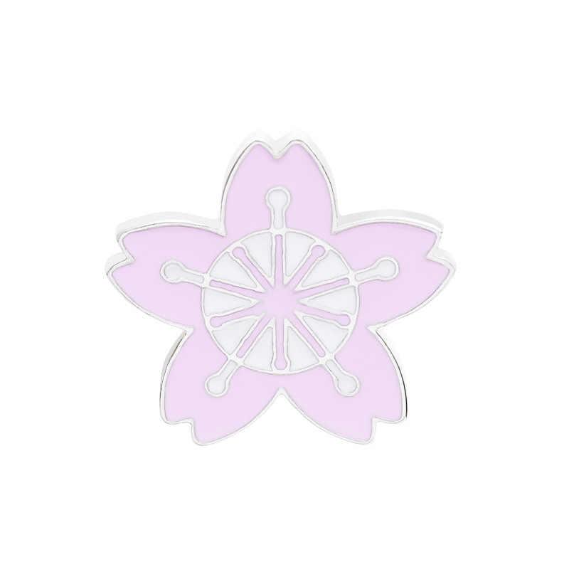 美しいさくら襟針日本語カレッジスタイルガール制服バッジ小花襟ピンコートブローチアクセサリー