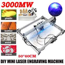 CNC Laser Engraving Machine 3000mW 50x65cm DC 12V 2Axis DIY Desktop Mini Engraver Wood Router/Cutter/Printer + Laser Goggles