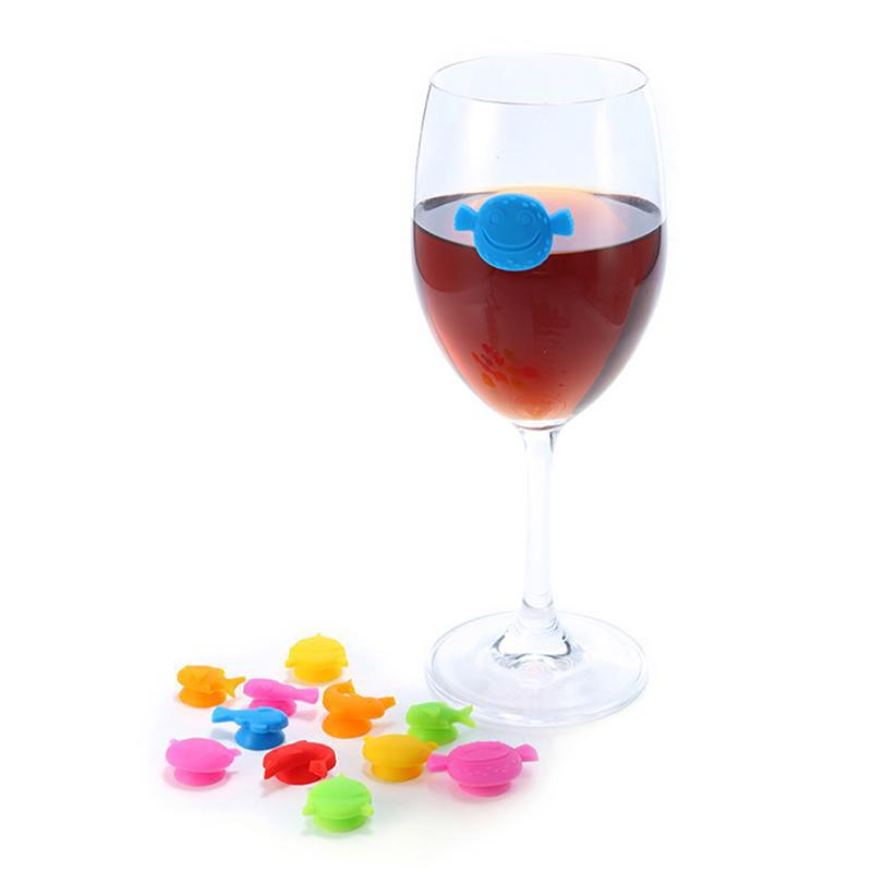 12pcs Marine Animal Wine Glass Party Dedicated Recognition Label Wine Glass Marker Bar Tools and Accessories Accessories