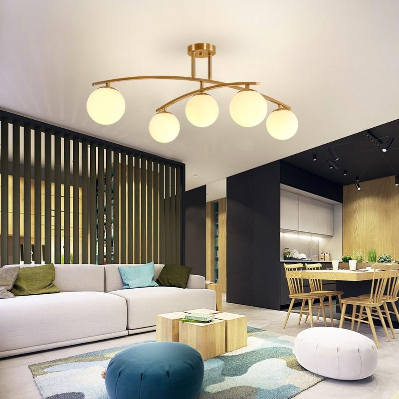 Modern Glass Pendant Light Nordic Dining Room Kitchen Light Designer Hanging Lamps Avize Lustre Lighting Ing Lustre Pendente