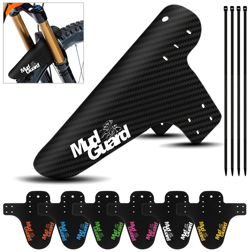 1 PC Colorful Mountain Road Bike Mud Guard Wings Ass Saver Carbon Fiber Front Rear Mudguard Bike Fenders Bicycle Accessories(China)
